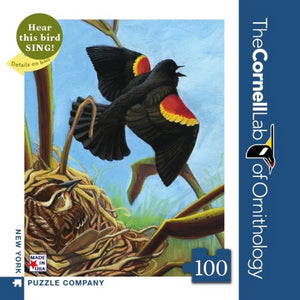 Red-Winged Blackbird 100 Piece Mini Puzzle