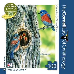 Western Bluebird 100 Piece Mini Puzzle