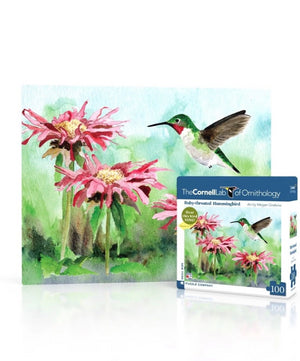 Ruby Throated Hummingbird 100 Piece Mini Puzzle