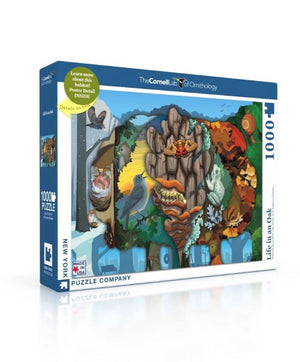 Nature Habitat - Life in an Oak 1000 Piece Puzzle with Poster