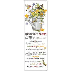 Hummingbird & Watering Can Nectar Recipe Towel