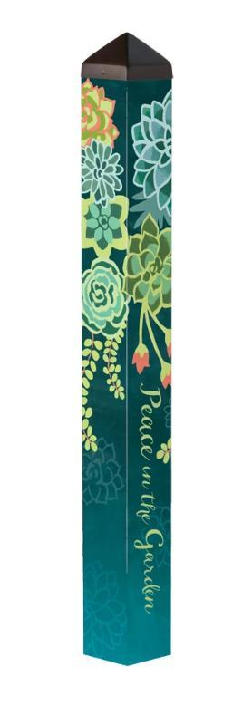 "Boho Succulents 40"" Art Pole"