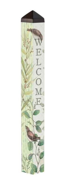 "Eucalyptus Welcome 40"" Art Pole"