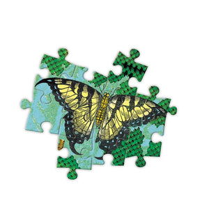 Zoomed in image of the butterfly puzzle pieces