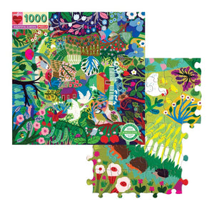 NEW!  Bountiful Garden 1000 Piece Puzzle shown with several puzzle pieces assembled