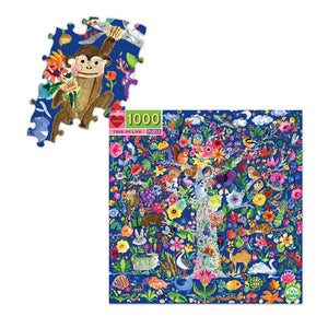Tree of Life 1000 Piece Puzzle with sample pieces shown assembled