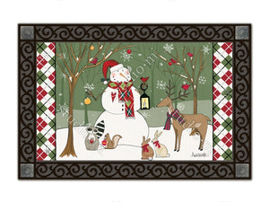 Party in the Woods Snowman MatMate Doormat