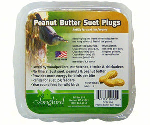 Peanut Suet Plugs (3-pack)