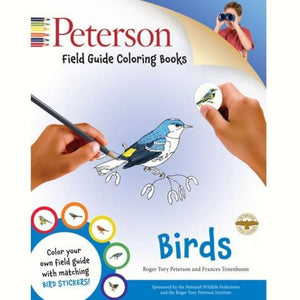 Peterson Field Guide Birds Coloring Book with matching Bird Stickers