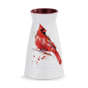 Redhead Cardinal Vase featuring Dean Crouser watercolor artwork