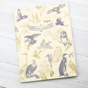 Front Cover of Carnivorous Birds Softcover Notebook with Dot Grid Paper