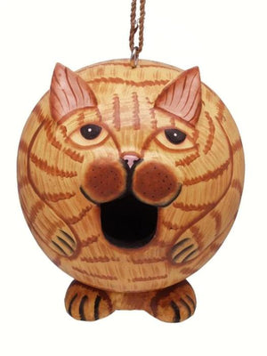 Orange Tabby Cat Gord-O Birdhouse