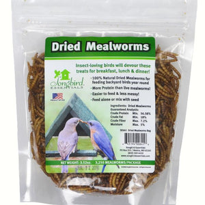 Dried Mealworms 3.5 oz Resealable Bag