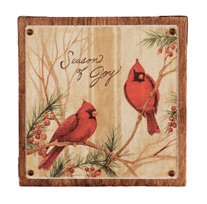 "A 5"" Season of Joy Wall Art from Perch Birding Gifts & Supplies"