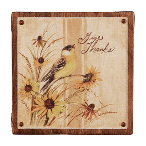 Give Thanks Wall Art 9""