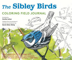 The Sibley Birds - Coloring Field Journal Hardcover Coloring Book