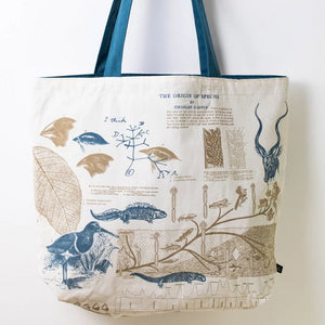 Evolutionary Biology Canvas Shoulder Tote