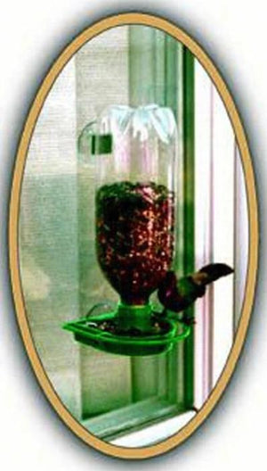Window Feeder - Green made of recycled plastics