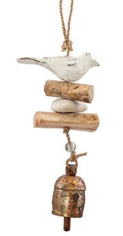 Driftwood Bird Windchime with NANA Bell