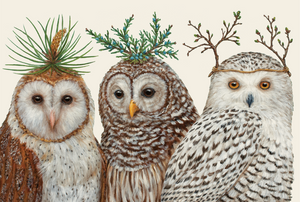 "Artwork for Winter Owls Paper Placemats 18.5"" X 12.5"""