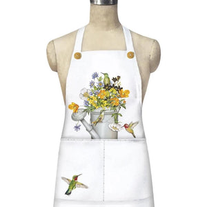 Hummingbird & Watering Can Apron
