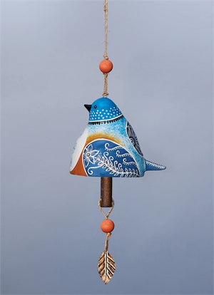 Bird Song Collection Bluebird Ceramic Bell