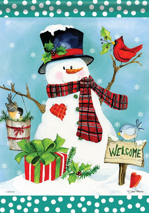 """Christmas Welcome"" Garden Flag"