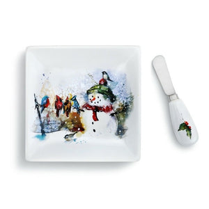 Dean Crouser Winter Friends Appetizer Plate