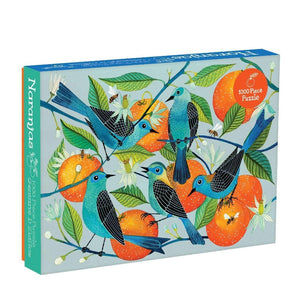 Avian Friends - Naranjas (Oranges) and Blue Birds 1000 piece Puzzle