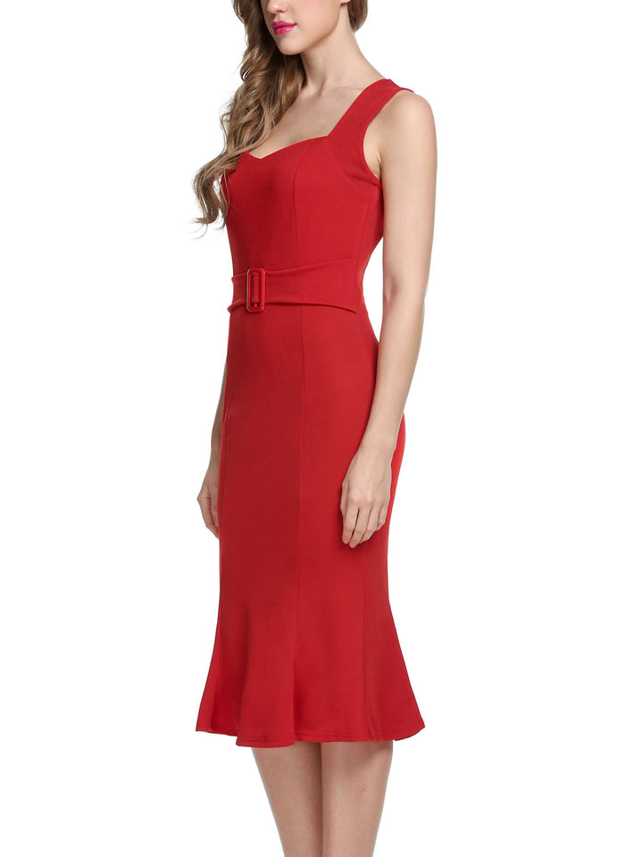 ANGVNS Women  Sexy Bodycon Midi  Party Dress