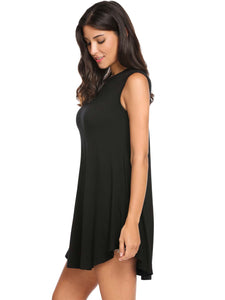Meaneor Women Loose Fit Swing Tunic Top