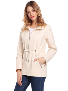 SoTeer Women Casual Long Sleeve Zip-up Down Jacket