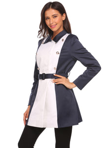 Burlady Women Double-breasted Trench Coat