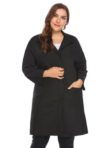 Involand Women Plus Size Stand Neck Jacket