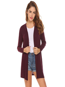 Meaneor Women  Lace Up Back Open Front Cardigan