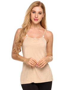 Ekouaer Women Sleeveless Solid Nursing Vest Tops