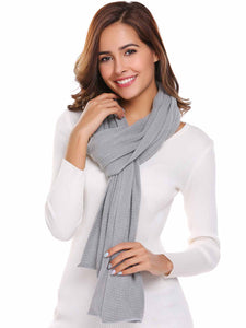 Zeagoo Soft Solid Grey Knitted Scarves Collar