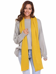 Zeagoo Soft Solid Knitted Scarves Collar