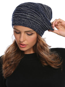 Knitted Unisex Beanie_navy blue