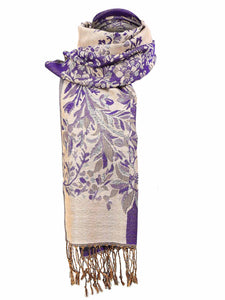 Zeagoo Women Fashion Soft Jacquard Weave Wraps Scarf_2