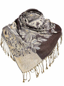 Zeagoo Women Fashion Soft Jacquard Weave Wraps Scarf_5