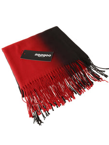 Zeagoo Gradient Color Fringed Scarf