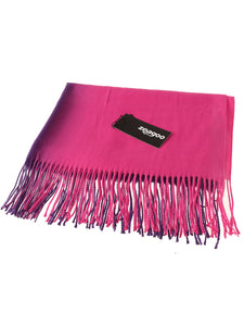 Zeagoo Gradient Color Fringed Scarf_pink
