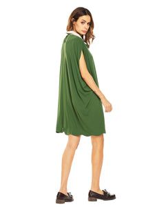 SHESHOW Women Peter Pan Collar Cloak Dress