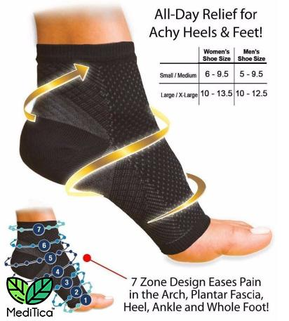 VitaWear™ Copper Infused Magnetic Foot Support Compression - MediStorey