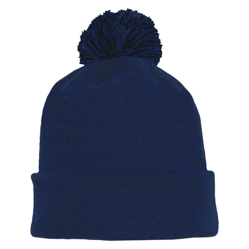 A1830-004 Navy Blank Hockey Beanie Hat