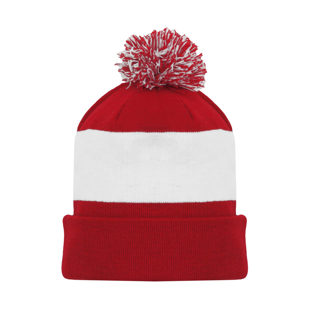 A1830-202 Detroit Red Wings Blank Hockey Beanie Hat