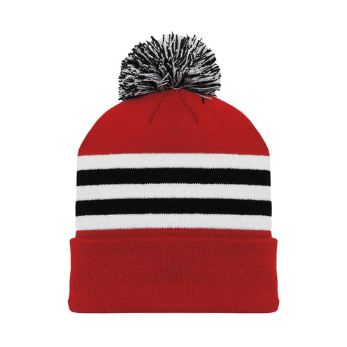 A1830-304 Chicago Blackhawks Blank Hockey Beanie Hat