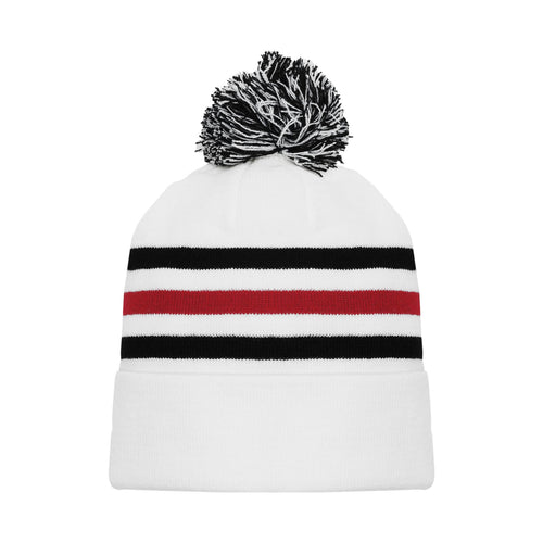 A1830-305 Chicago Blackhawks Blank Hockey Beanie Hat