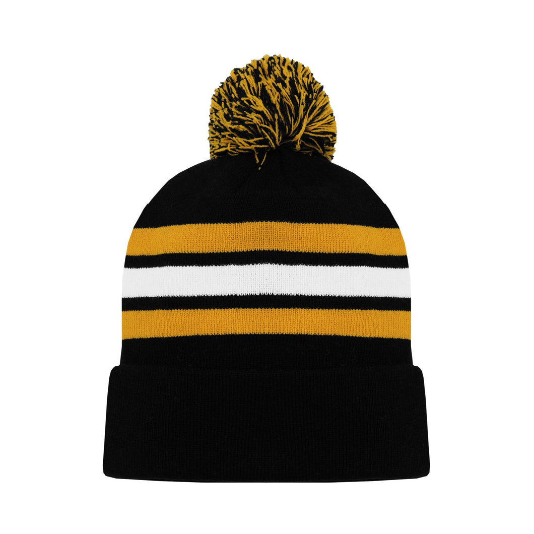 A1830-498 Boston Bruins Blank Hockey Beanie Hat